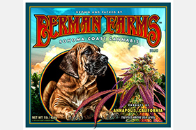 Berman Farms Crate Label